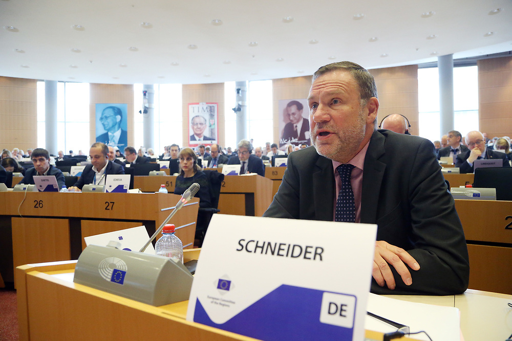 12 May 2017, 123rd Plenary Session of the European Committee of the Regions <br /> Belgium - Brussels - May 2017 <br /> <br /> Mr SCHNEIDER Michael, State Secretary, Representative of the Land of Saxony-Anhalt to the Federal Government, Germany<br /> <br /> &copy; European Union / Patrick Mascart