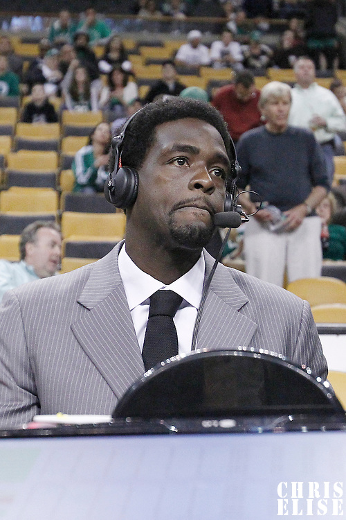21 May 2012: Chris Webber is seen during the Boston Celtics 101-85 victory over the Philadelphia Sixer, in Game 5 of the Eastern Conference semifinals playoff series, at the TD Banknorth Garden, Boston, Massachusetts, USA.