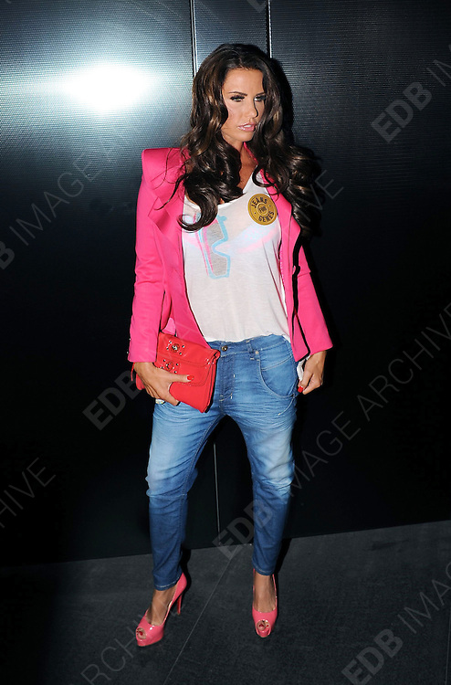 04.SEPTEMBER.2012. LONDON<br /> <br /> KATIE PRICE ATTENDS THE JEANS FOR GENES LAUNCH PARTY AT THE W HOTEL, LEICESTER SQUARE.<br /> <br /> BYLINE: EDBIMAGEARCHIVE.CO.UK<br /> <br /> *THIS IMAGE IS STRICTLY FOR UK NEWSPAPERS AND MAGAZINES ONLY*<br /> *FOR WORLD WIDE SALES AND WEB USE PLEASE CONTACT EDBIMAGEARCHIVE - 0208 954 5968*
