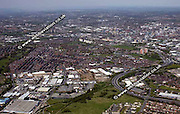 aerial photograph of Beeston   Leeds Yorkshire England UK