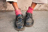 Cuba Havana - An Old Man's Red Sock and almost missing shoelace