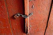 Detail of door and latch.