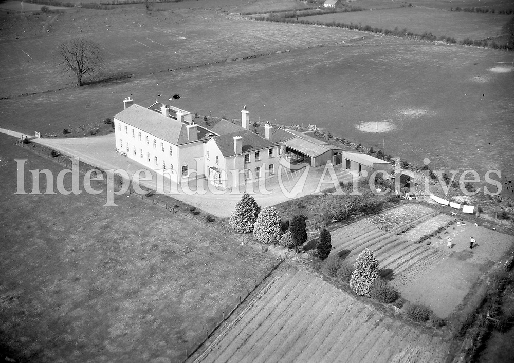 A359 St Colman's, Claremorris.   06/07/56 (Part of the Independent Newspapers Ireland/NLI collection.)<br /> <br /> These aerial views of Ireland from the Morgan Collection were taken during the mid-1950's, comprising medium and low altitude black-and-white birds-eye views of places and events, many of which were commissioned by clients. From 1951 to 1958 a different aerial picture was published each Friday in the Irish Independent in a series called, 'Views from the Air'.