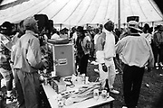 Hip Hop tent at the Moss Side Carnival, Alexandra Park, Manchester, 1989