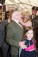 Leader Craft And President Michael D Higgins at National Ploughing Championships, at Ratheniska, Co.