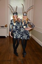Left to right, DANIELA FELDER and ANNETTE FELDER at the The Animal Ball – Masking Up Moment held at the Quintessentially Ballrooms, 29 Portland Place, London W1 on 10th June 2013.