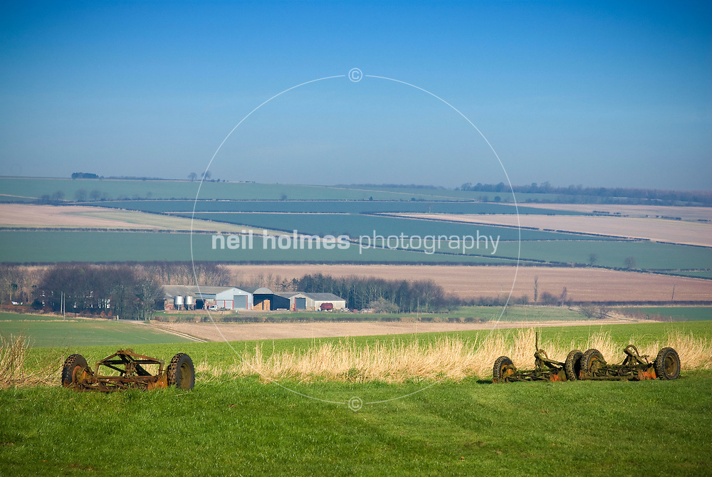 View from the north of Wetwang over the wolds Village East Yorkshire