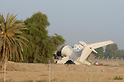 Sharjah Airport. Tail end of a wrecked Tupolev Tu-154.
