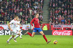 November 15, 2018 - Gdansk, Pomorze, Poland - Jakub Jankto (14) during the international friendly soccer match between Poland and Czech Republic at Energa Stadium in Gdansk, Poland on 15 November 2018  (Credit Image: © Mateusz Wlodarczyk/NurPhoto via ZUMA Press)