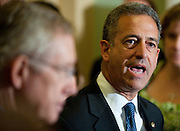 Jul 27, 2010 - Washington, District of Columbia, U.S., -.During a press conference on Tuesday, Senator RUSS FEINGOLD (D-WI) explains how Senate Republicans are blocking passage of a bill that would force American companies and interest groups to disclose their roles in federal elections more than ever before. Later Democrats failed to end the Republican filibuster of the DISCLOSE Act on a 57-41 vote. (Credit Image: © Pete Marovich/ZUMA Press)