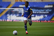 Birmingham City midfielder Jeremie Bela (11)  sprints forward with the ball during the EFL Sky Bet Championship match between Birmingham City and Huddersfield Town at the Trillion Trophy Stadium, Birmingham, England on 1 July 2020.