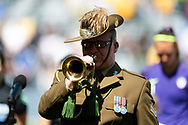 SYDNEY, AUSTRALIA - NOVEMBER 09: The last post being played for Remembrance Day before the International friendly soccer match between Matildas and Chile on November 09, 2019 at Bankwest Stadium in Sydney, Australia. (Photo by Speed Media/Icon Sportswire)