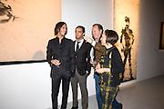 VLADIMIR ROITFELD; ANDY VALMORBIDA; MASSIMO REDAELLI; WARLY TOMEI;, Richard Hambleton private view.- New York- Godfather of Street art presented by Vladimir Restoin Roitfeld and Andy Valmorbida in collaboration with Giorgio armani. The Old Dairy. London. 18 November 2010. -DO NOT ARCHIVE-© Copyright Photograph by Dafydd Jones. 248 Clapham Rd. London SW9 0PZ. Tel 0207 820 0771. www.dafjones.com.