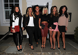 The Only Way Is Essex stars Jessica Wright, Sam Faiers, Bobby Cole Norris, Billie Faiers, Ferne McCann and Lucy Mecklenburgh enjoy a night out at Alec's restaurant in Brentwood, Essex, UK. 04/10/2013<br />BYLINE MUST READ : GOTCHAIMAGES.COM<br /><br />Copyright by © Gotcha Images Ltd. All rights reserved.<br />Usage of this image is conditional upon the acceptance <br />of Gotcha Images Ltd, terms and conditions available at<br />www.gotchaimages.com