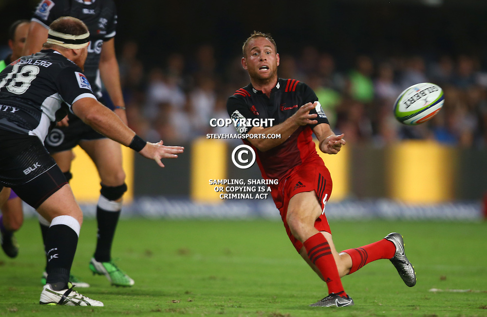 DURBAN, SOUTH AFRICA - MARCH 26: Andy Ellis of the BNZ Crusaders during the Super Rugby match between Cell C Sharks and BNZ Crusaders at Growthpoint Kings Park on March 26, 2016 in Durban, South Africa. (Photo by Steve Haag/Gallo Images)