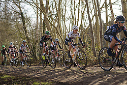World Champion, Amalie Dideriksen across the cobbles at Drentse 8 2017. A 143 km road race on March 12th 2017, starting and finishing in Dwingeloo, Netherlands. (Photo by Sean Robinson/Velofocus)