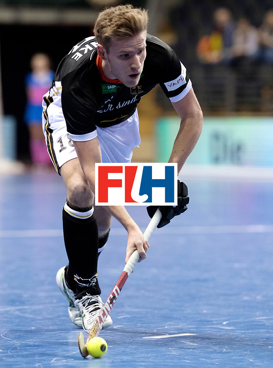 BERLIN - Indoor Hockey World Cup<br /> Men: Germany - Australia<br /> foto: WEINKE Ferdinand.<br /> WORLDSPORTPICS COPYRIGHT FRANK UIJLENBROEK
