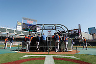Detroit Tigers take batting practice before a game against the Minnesota Twins on September 29, 2012 at Target Field in Minneapolis, Minnesota.  The Tigers defeated the Twins 6 to 4.  Photo: Ben Krause