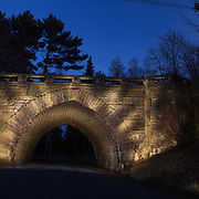 Eagle Lake Bridge, one of many Rockefeller carriage roads throughout Acadia National Park. Created while serving as artist-in-residence with Acadia National Park.