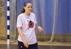 Nina Jericek during practice session of Slovenian Women handball National Team three days before match against Serbia, on October 24, 2013 in Arena Tivoli, Ljubljana, Slovenia. (Photo by Vid Ponikvar / Sportida)