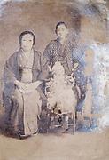 eroding family portrait Japan ca 1930s