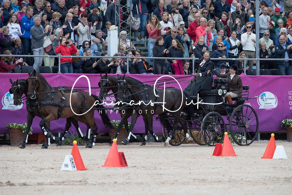 Chardon IJsbrand, NED, Baldun, Eddy, Senator, Winston E, Zion<br /> FEI European Driving Championships - Goteborg 2017 <br /> &copy; Hippo Foto - Dirk Caremans