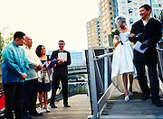 Wedding aboard La Gondola in Providence, Rhode Island, April 2012