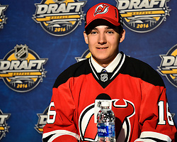 Evan Cormier of the Saginaw Spirit was selected by the New Jersey Devils at the 2016 NHL Draft in Buffalo, NY on Saturday June 25, 2016. Photo by Aaron Bell/CHL Images