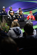 June 9-12, 2016: Canadian Grand Prix. FIA Driver's press conference with Jenson Button, Marcus Ericsson, Sergio Perez, Felipe Massa, Daniel Ricciardo and Kimi Raikkonen