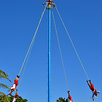 Papantla Flyers Performance in Playa del Carmen, Mexico<br />