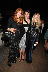 Left to right, CHARLOTTE TILBURY, SHEHERAZADE GOLDSMITH and PIPPA HOLT at the Quintessentially Summer Party at the Wallace Collection, Manchester Square, London on 6th June 2007.<br />
