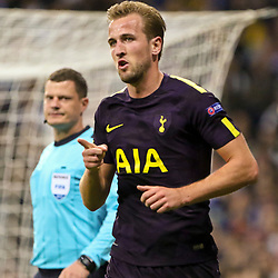 Harry Kane of spurs celebrates your first goal during Uefa Champions League (Group H) match between Real Madrid and Tottenham Hotspur at Santiago Bernabeu Stadium on October 17, 2017 in Madrid  (Spain) (Photo by Luis de la Mata / SportPix.org.uk)