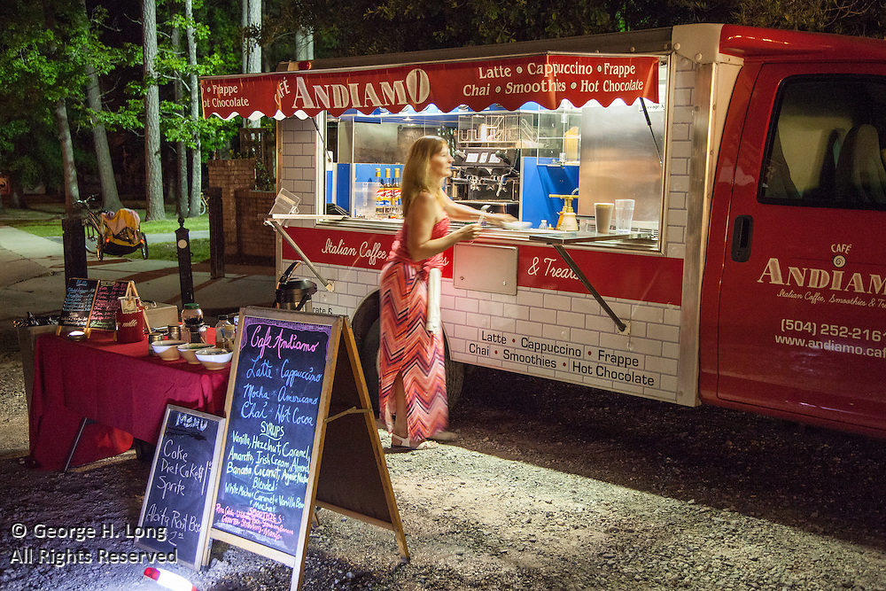 Cafe Adniamo coffee truck at AquaFest in Abita Springs Park on May 7, 2016