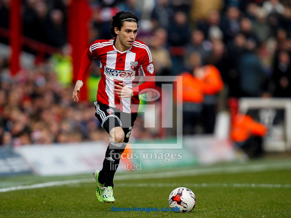 Jota of Brentford during the Sky Bet Championship match between Brentford and Cardiff City at Griffin Park, London<br /> Picture by Mark D Fuller/Focus Images Ltd +44 7774 216216<br /> 14/03/2015