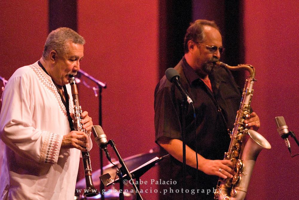 The Joe Lovano/Paquito D'Rivera Festival Ensemble performing at the JAZZ FESTIVAL II of the Caramoor 2007 International Music Festival in Katonah, New York.<br /> photo by Gabe Palacio