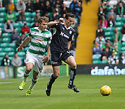 Dundee&rsquo;s Paul McGinn and Celtic&rsquo;s James Forrest - Celtic v Dundee - Ladbrokes Premiership at Celtic Park<br /> <br /> <br />  - &copy; David Young - www.davidyoungphoto.co.uk - email: davidyoungphoto@gmail.com