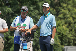 May 25, 2018 - Fort Worth, TX, U.S. - FORT WORTH, TX - MAY 25: Justin Rose (ENG) and his caddie look over the 9th hole during the second round of the Fort Worth Invitational on May 25, 2018 at Colonial Country Club in Fort Worth, TX. (Photo by George Walker/Icon Sportswire) (Credit Image: © George Walker/Icon SMI via ZUMA Press)