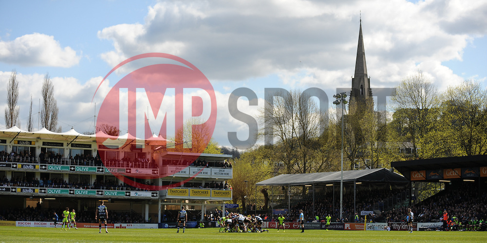 General view of play at the Recreation Ground.  - Mandatory by-line: Alex Davidson/JMP - 23/04/2016 - RUGBY - Recreation Ground - Bath, England - Bath Rugby v Sale Sharks - Aviva Premiership