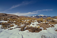 Sand dunes, Great Sand Dunes National Park, Sangre de Cristo Mountains, Colorado