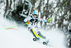 """Wirth Barbara (GER) competes during FIS Alpine Ski World Cup 2014/15 5th Ladies' Slalom race named """"Snow Queen Trophy 2015"""", on January 4, 2015 in Course Crveni Spust at Sljeme hill, Zagreb, Croatia.  Photo by Vid Ponikvar / Sportida"""