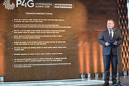 20.10.2018. Copenhagen, Denmark.  <br /> The Prime Minister of Denmark Lars Lokke Rasmussen during his speech at the P4G Copenhagen Summit 2018 in The Danish Radio Concert Hall.<br /> Photo: © Ricardo Ramirez