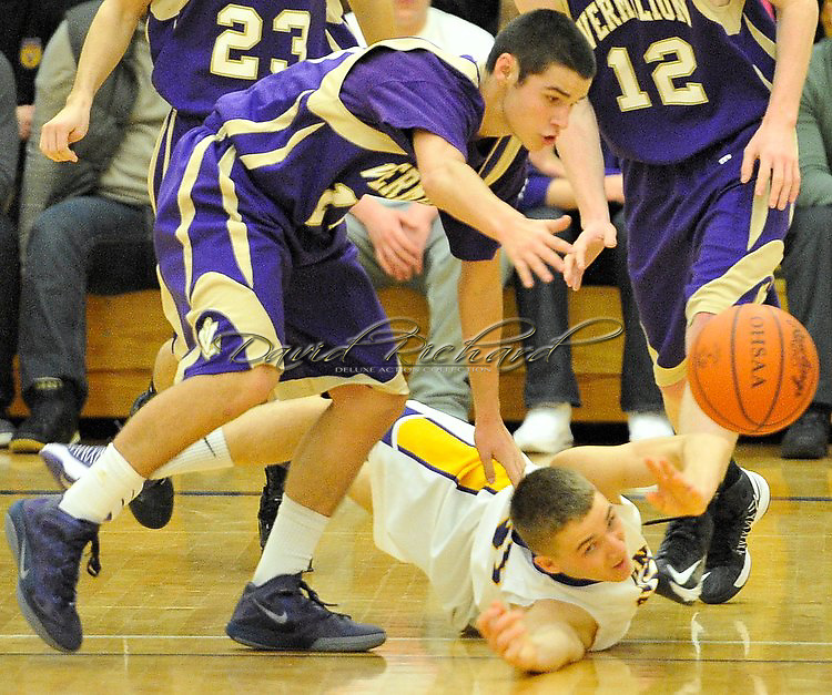 Vermilion at Avon boys varsity basketball on January 8, 2013. Images © David Richard and may not be copied, posted, published or printed without permission.
