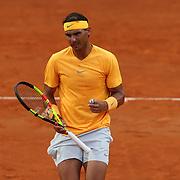 Roma 20/05/2018 Foro Italico <br /> Internazionali BNL d'Italia 2018 <br /> finale maschile<br /> Rafael Nadal esulta dopo la vittoria di un punto nella finale in cui ha battuto Alexander Zverev