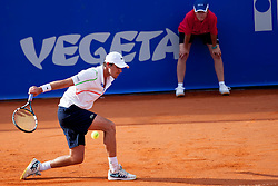 Edouard Roger - Vasselin of France during a tennis match against the Borna Coric of Croatia in 1st round of singles at 25th Vegeta Croatia Open Umag, on July 21, 2014, in Stella Maris, Umag, Croatia. Photo by Urban Urbanc / Sportida