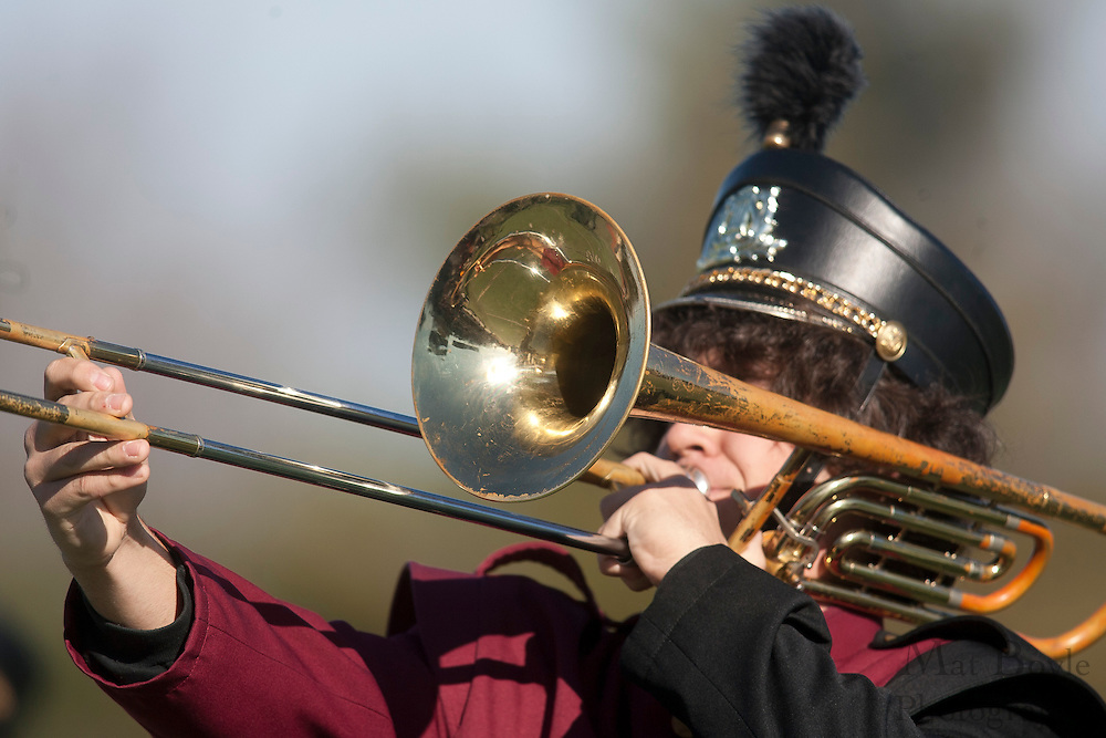Glassboro High School Marching Band;..NJSIAA South Jersey Group 1 Title match between Pennsville High School and Glassboro High School held at Coach Richard Wacker Stadium on the campus of Rowan University in Glassboro, NJ on Saturday, December 3, 2011. (photo: Mat Boyle)
