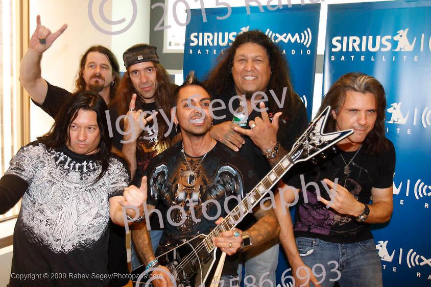 Testament perform at Sirius / XM Satellite radio on August 10, 2009. .Paul Bostaph,Greg Christian,Chuck Billy,Alex Skolnick,Eric Peterson
