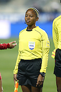 CHESTER, PA - MARCH 01: Assistant Referee Stephanie Yee Sing (JAM). The United States Women's National Team played the Germany Women's National Team as part of the She Believes Cup on March 1, 2017, at Talen Engery Stadium in Chester, PA. The United States won the game 1-0.