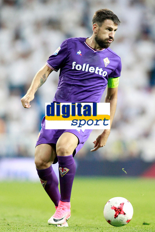 ACF Fiorentina's Nenad Tomovic during Santiago Bernabeu Trophy. August 23,2017. (ALTERPHOTOS/Acero)