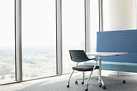 Office furniture near window