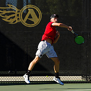 07 October 2017:  The San Diego State men's tennis team competes in day two of the SDSU Aztec Invite with doubles and singles matches. www.sdsuaztecphotos.com